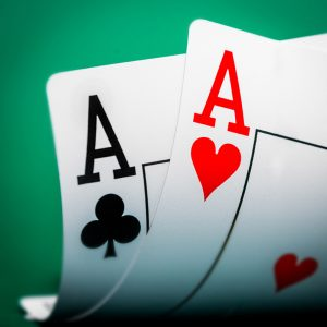 Aces as used in poker themed card tricks