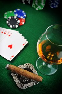 Poker Cards with Cigar