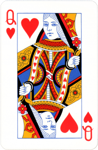 Queen of Hearts used in ice cream card trick